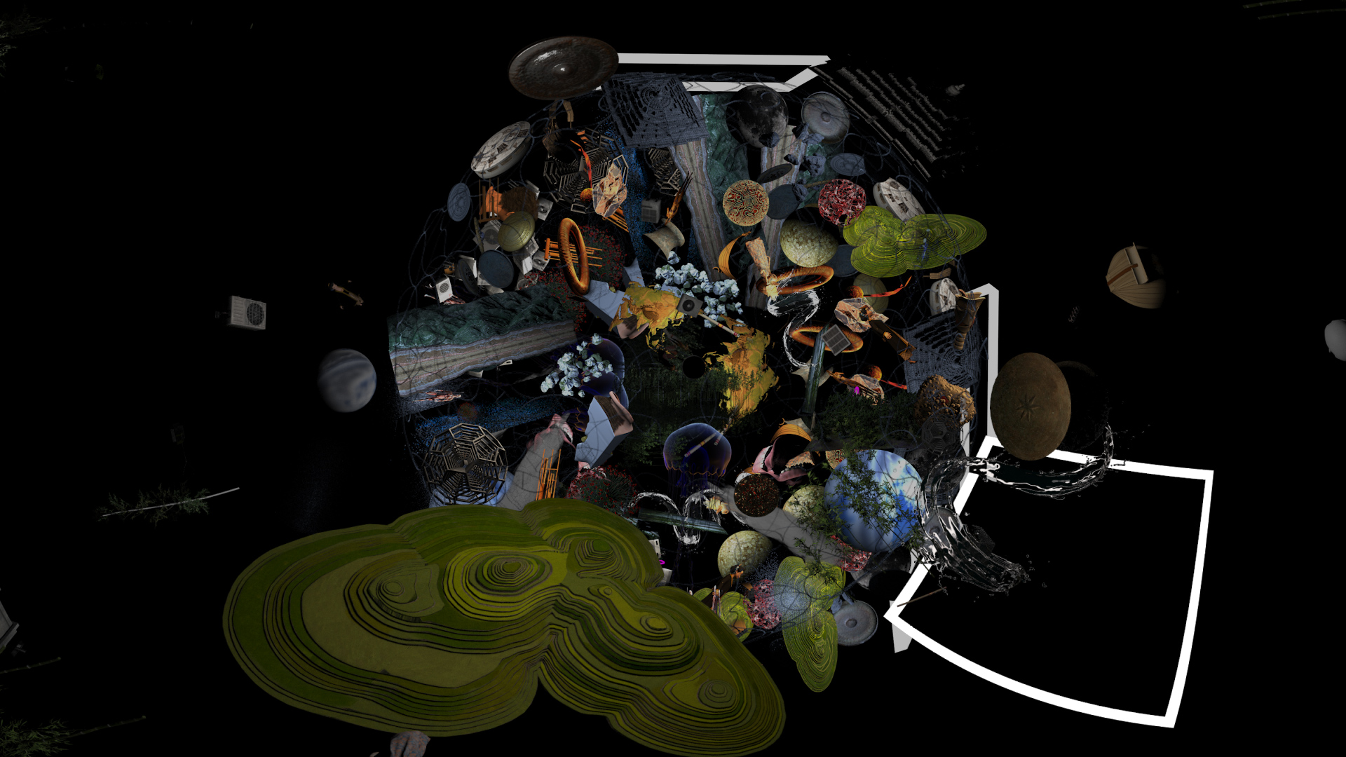 R for Resonance, Installation with VR Video 360 degrees, single channel video, 6 channel sound_1