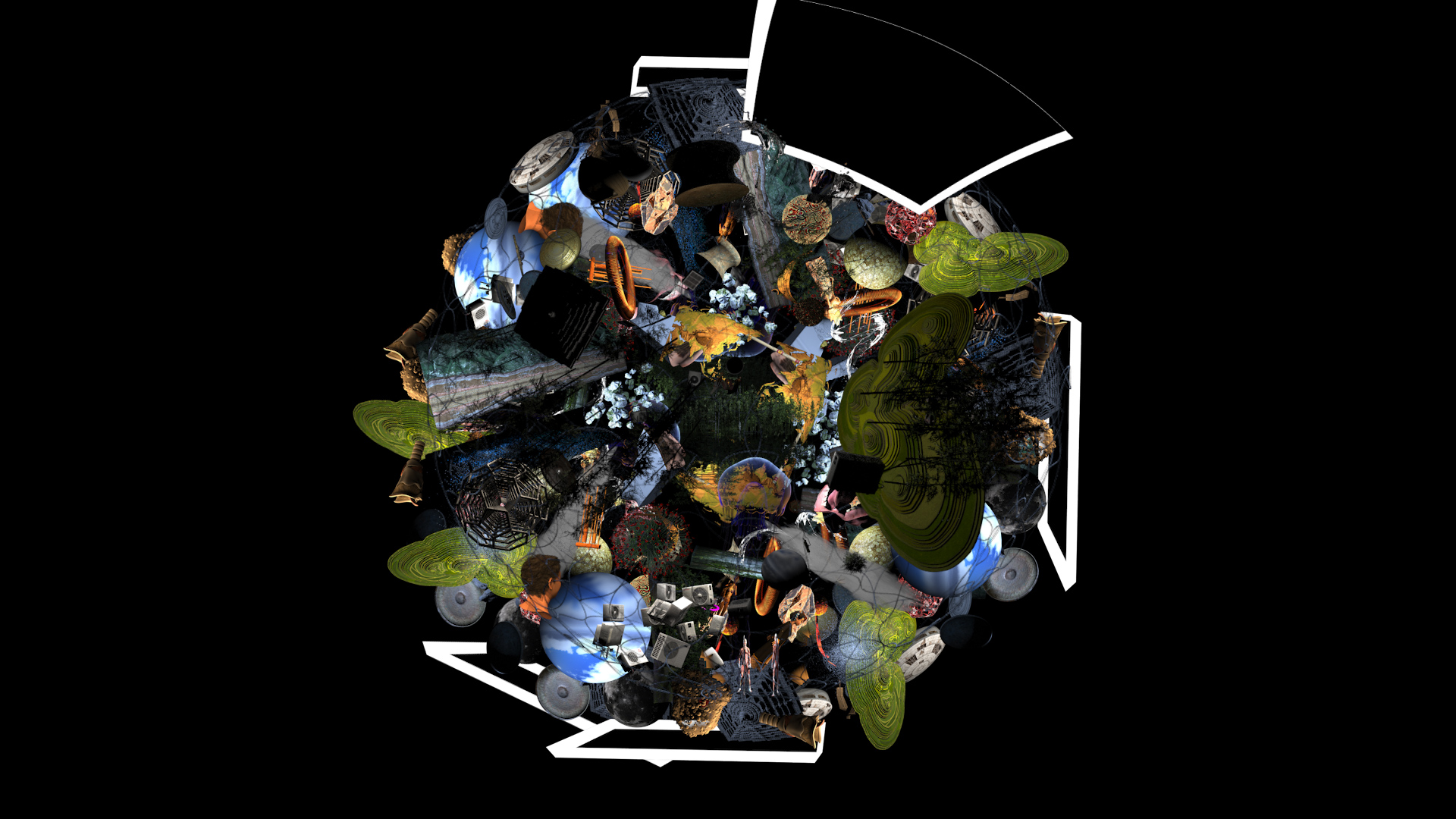 R for Resonance, Installation with VR Video 360 degrees, single channel video, 6 channel sound_2
